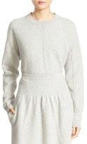 Joseph Women's Boiled Wool Crewneck Sweater