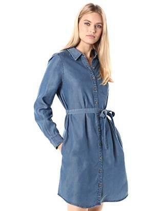 Daily Ritual Tencel Long-Sleeve Shirt Dress Casual,L