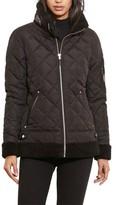 Lauren Ralph Lauren Women's Faux Shearling Trim Quilted Bomber Jacket