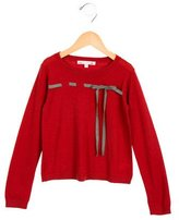 Bonpoint Girls' Wool Bow-Accented Sweater