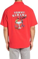 Tommy Bahama Men's Big & Tall Time To Get Lit Embroidered Silk Camp Shirt