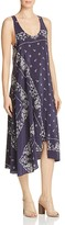 Theory Apalania Bandana-Print Silk Crepe de Chine Dress