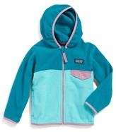 Patagonia Toddler Girl's 'Micro D Snap-T' Hooded Fleece Jacket