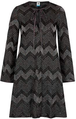 M Missoni Zigzag Metallic-knit Dress