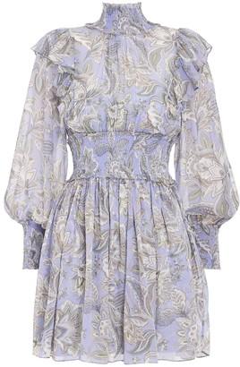 Zimmermann Lucky Shirred Mini Dress