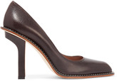 Marni Textured-leather pumps