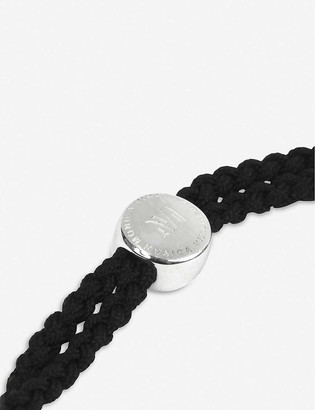 Monica Vinader Havana sterling-silver and woven cord bracelet