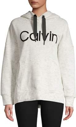 Calvin Klein Logo Cotton-Blend Hoodie