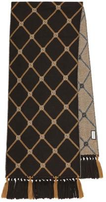 Gucci Jacquard wool scarf