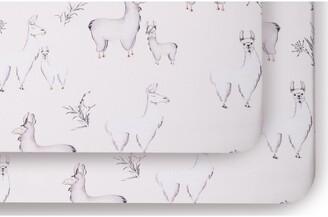 Oilo Llama Set of 2 Jersey Crib Sheets