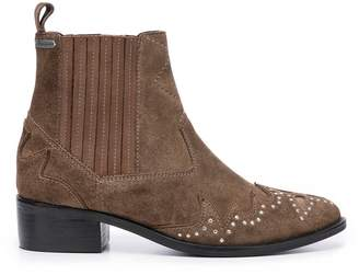 Pepe Jeans Chiswick Easy Ankle Boots in Suede Mix