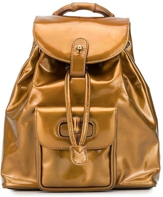 Bamboo metallic backpack