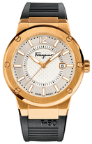 Salvatore Ferragamo F-80 Silver Dial Watch, 44mm