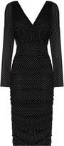 Dolce & Gabbana polka dot fitted midi dress