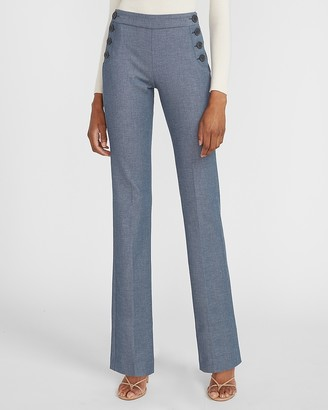 Express Mid Rise Side Button Barely Boot Columnist Pant