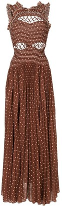 Rachel Gilbert Peppa polka dot-print sleeveless maxi dress