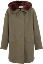 Yves Salomon Shearling-lined Cotton-twill Parka - Army green