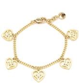 Juicy Couture Openwork Heart Charm Bracelet