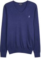 Polo Ralph Lauren Blue Cotton Blend Jumper