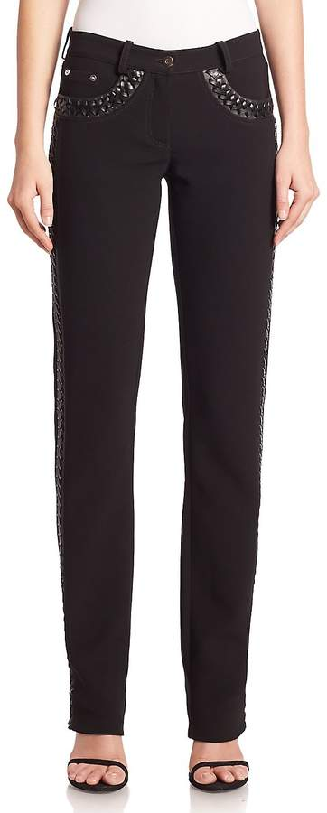 Altuzarra Women's Kurt Braided Faux-Leather Pants