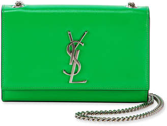 Saint Laurent Kate Monogram Small Neon Leather Crossbody Bag