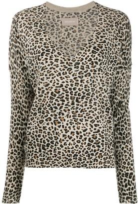 Zadig & Voltaire Brume leopard-print jumper