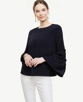 Ann Taylor Petite Bell Sleeve Silk Blouse