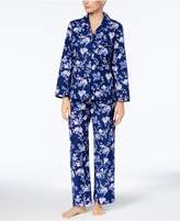 Charter Club Petite Printed Cotton Flannel Pajama Set, Created for Macy's