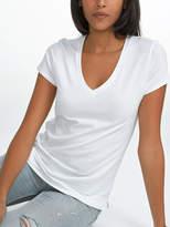 White + Warren Cotton Modal Short Sleeve V Neck Tee