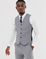 Asos Design DESIGN slim suit suit vest in mid gray
