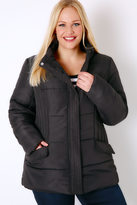 Yours Clothing Black Short Padded Puffer Jacket