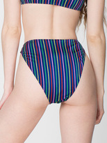 American Apparel Striped High Rise Bikini Bottom