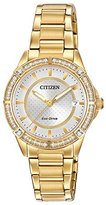 Citizen Drive From Eco-Drive Women's Quartz Stainless Steel Casual Watch, Color: Gold-Toned (Model: FE6062-56A)