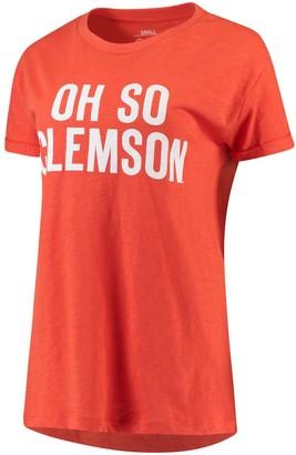 Women's Pressbox Orange Clemson Tigers Oh So Boyfriend Rolled Sleeves T-Shirt