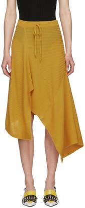 Marques Almeida Yellow Draped Skirt