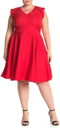 City Chic First Place Fit & Flare Dress (Plus Size)