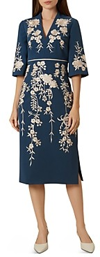 Hobbs London Siobhan Embroidered Sheath Dress