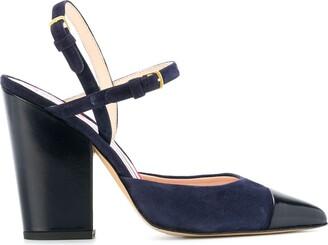 Thom Browne High-Block D'orsay Slingback Heel In Leather
