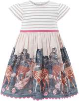 Monsoon Baby Girls Darla Deer 2 in 1 Dress