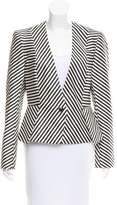 Sass & Bide Striped Collarless Jacket