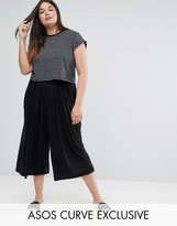Asos Pleated Wide Leg Culotte Pant