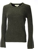 MICHAEL Michael Kors Dark Green Knitted Jumper With Metallic Fibres