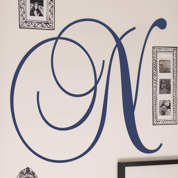 PBteen Cursive Letter Monogram Decal