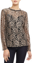 Ted Baker Nomino Metallic Lace Top