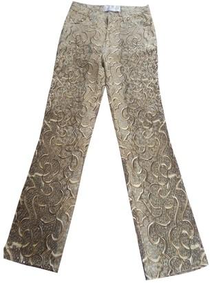 Roberto Cavalli Gold Denim - Jeans Trousers for Women Vintage