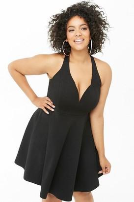 Forever 21 Plus Size Mini Fit Flare Dress