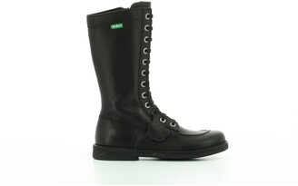 Kickers Meetkiknew Leather Calf Boots with Laces