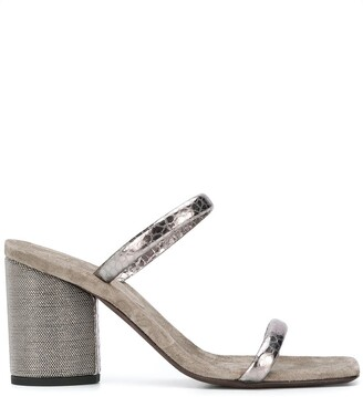 Brunello Cucinelli Ball-Chain Heel Sandals
