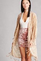 Forever 21 FOREVER 21+ JayLey Collection Velvet Kimono