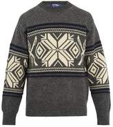 Junya Watanabe Snow-pattern wool-blend sweater